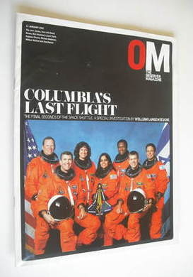 <!--2004-01-11-->The Observer magazine - Columbia's Last Flight cover (11 J