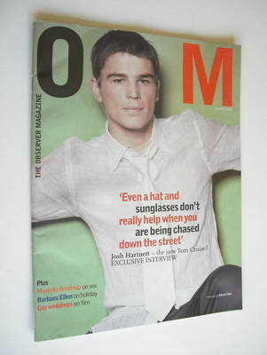 <!--2002-04-21-->The Observer magazine - Josh Hartnett cover (21 April 2002