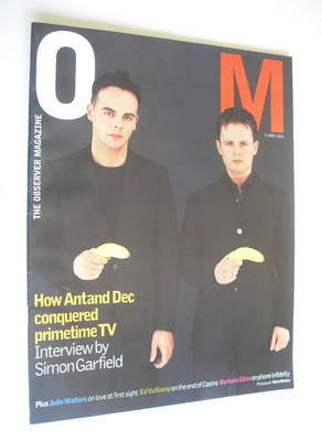 <!--2002-05-12-->The Observer magazine - Ant and Dec cover (12 May 2002)