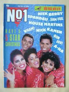 <!--1986-12-20-->No 1 Magazine - Five Star cover (20-27 December 1986)
