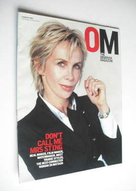 <!--2002-08-04-->The Observer magazine - Trudie Styler cover (4 August 2002