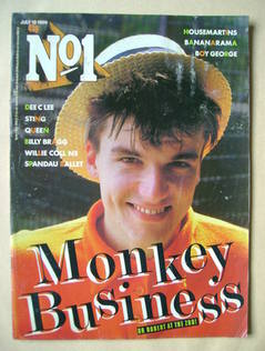 <!--1986-07-19-->No 1 Magazine - Dr Robert cover (19 July 1986)