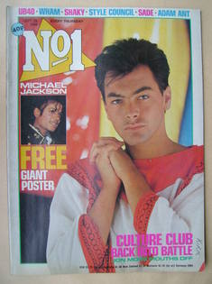 <!--1984-09-29-->No 1 Magazine - Jon Moss cover (29 September 1984)