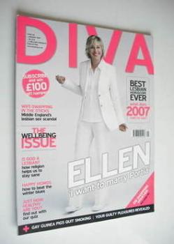 Diva magazine - Ellen DeGeneres (January 2007 - Issue 128)