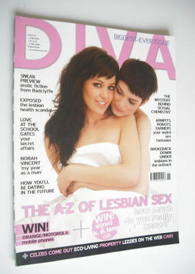 Diva magazine - The A-Z Of Lesbian Love cover (June 2006 - Issue 121)