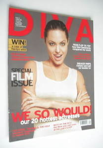 Diva magazine - Angelina Jolie cover (April 2006 - Issue 119)