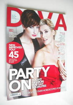Diva magazine - Party On cover (January 2009 - Issue 152)