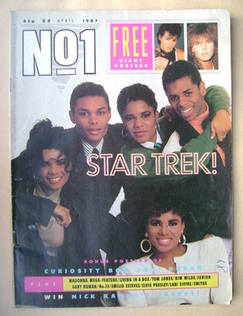 <!--1987-04-25-->No 1 Magazine - Five Star cover (25 April 1987)