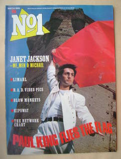 <!--1986-05-24-->No 1 Magazine - Paul King cover (24 May 1986)