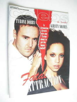 Celebs magazine - Alan Halsall and Natalie Gumede cover (5 February 2012)