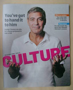 <!--2012-01-01-->Culture magazine - George Clooney cover (1 January 2012)
