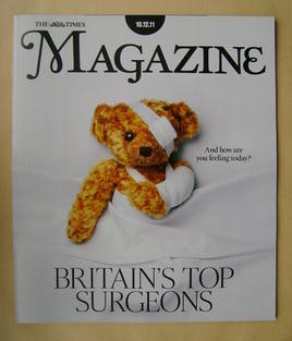 <!--2011-12-10-->The Times magazine - Britain's Top Surgeons cover (10 Dece