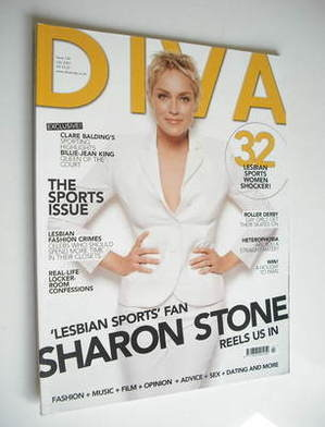 Diva magazine - Sharon Stone cover (July 2007 - Issue 134)