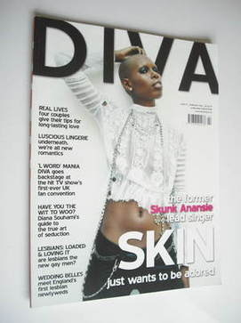Diva magazine - Skin cover (February 2006 - Issue 117)