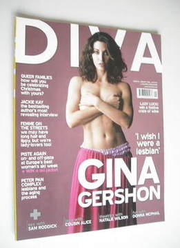 Diva magazine - Gina Gershon cover (January 2006 - Issue 116)