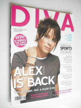 Diva magazine - Alex Parks cover (October 2005 - Issue 113)