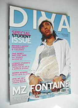 Diva magazine - Mz Fontaine cover (September 2005 - Issue 112)