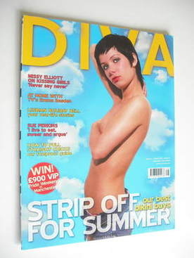 Diva magazine - Strip Off For Summer cover (August 2005 - Issue 111)
