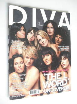 Diva magazine - The L Word Uncovered cover (July 2005 - Issue 110)