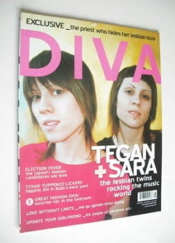Diva magazine - Tegan & Sara cover (May 2005 - Issue 108)