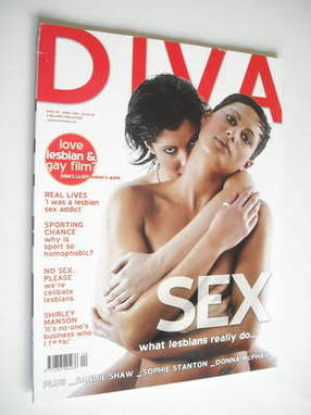 Diva magazine - What Lesbians Really Do cover (April 2005 - Issue 107)