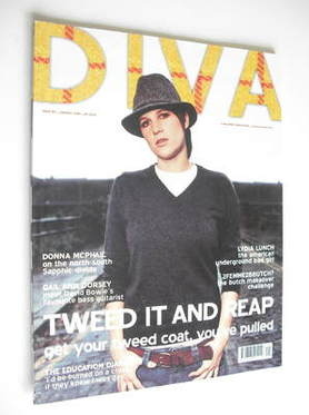 Diva magazine - Tweed It And Reap cover (January 2005 - Issue 104)