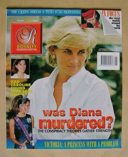 Royalty Monthly magazine - Princess Diana cover (Vol.15 No.1)