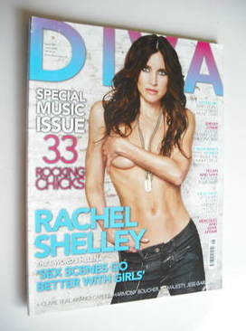 Diva magazine - Rachel Shelley cover (June 2008 - Issue 145)