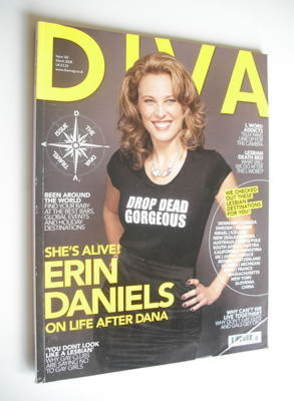 Diva magazine - Erin Daniels cover (March 2008 - Issue 142)