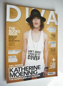 Diva magazine - Katherine Moennig cover (November 2007 - Issue 138)