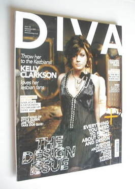Diva magazine - Kelly Clarkson cover (September 2007 - Issue 136)