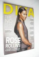 <!--2008-09-->Diva magazine - Rose Rollins cover (September 2008 - Issue 148)