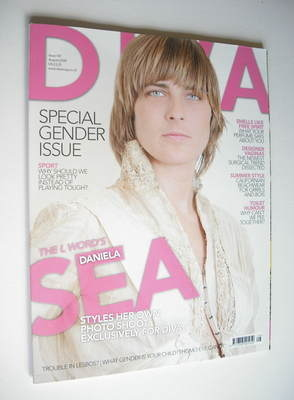 Diva magazine - Daniela Sea cover (August 2008 - Issue 147)