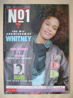 <!--1987-08-15-->No 1 Magazine - Whitney Houston cover (15 August 1987)