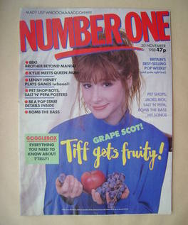 <!--1988-11-30-->NUMBER ONE Magazine - Tiffany cover (30 November 1988)