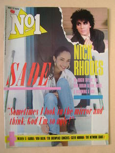 <!--1986-05-17-->No 1 Magazine - Sade cover (17 May 1986)