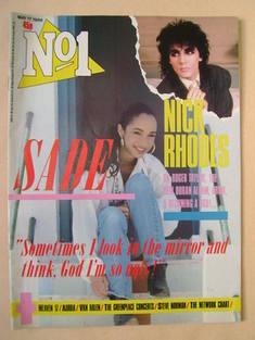 No 1 Magazine - Sade cover (17 May 1986)