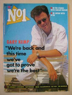 <!--1986-07-12-->No 1 Magazine - Gary Kemp cover (12 July 1986)