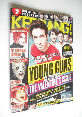 <!--2012-02-11-->Kerrang magazine - Young Guns cover (11 February 2012 - Is