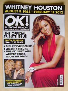 <!--2012-02-21-->OK! magazine - Whitney Houston cover (21 February 2012 - I