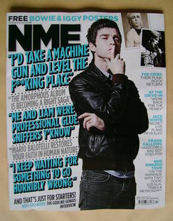 <!--2012-02-18-->NME magazine - Noel Gallagher cover (18 February 2012)