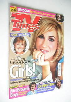 <!--2012-01-21-->TV Times magazine - Katherine Kelly cover (21-27 January 2