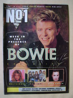 <!--1987-04-04-->No 1 Magazine - David Bowie cover (4 April 1987)