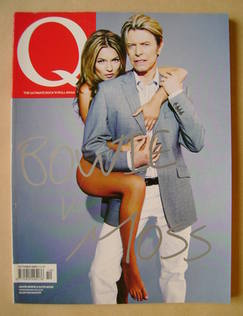 <!--2003-10-->Q magazine - David Bowie and Kate Moss cover (October 2003)