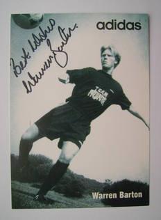 Warren Barton autograph