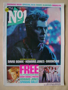 <!--1984-09-15-->No 1 Magazine - David Bowie cover (15 September 1984)