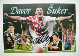 Davor Suker autograph