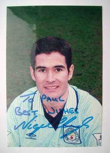 Nigel Clough autograph