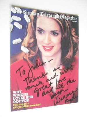 The Sunday Telegraph magazine - Winona Ryder cover (13 April 2003)