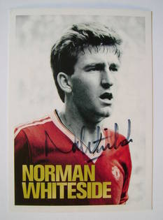Norman Whiteside autograph